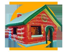 Casetta Di Natale Gonfiabile : Noleggio casa gonfiabile di babbo natale gonfiabile natalizio
